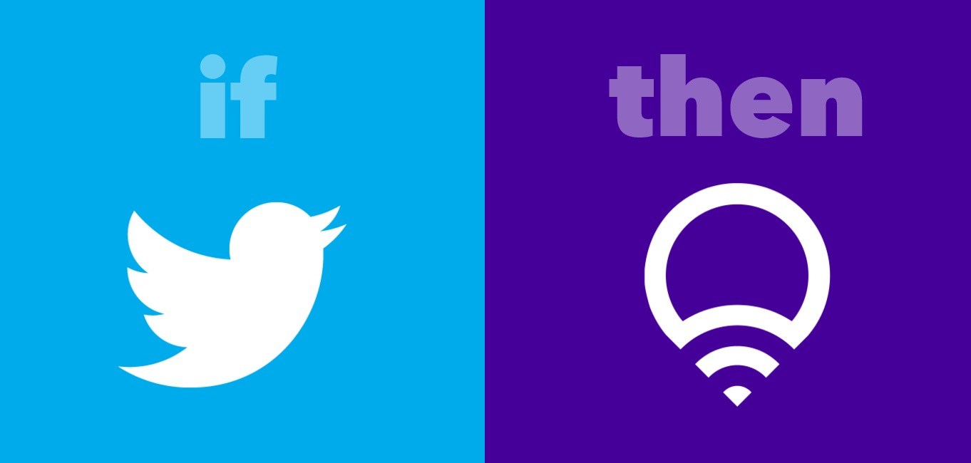IFTTT Recipe: Breathe lights on Twitter mention connects twitter to lifx