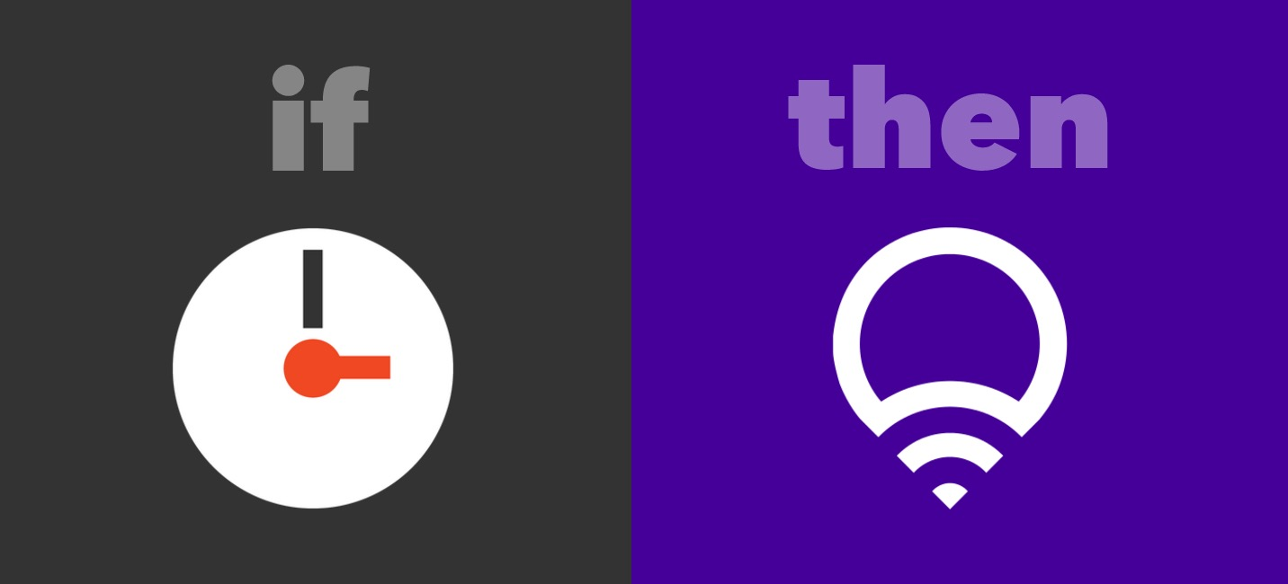IFTTT Recipe: Fade lights to warm white at 6pm connects date-time to lifx
