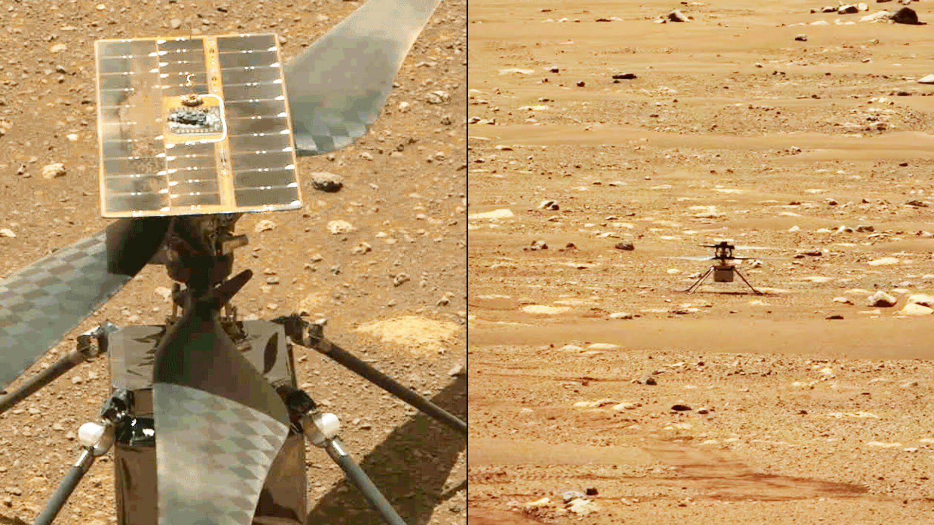 Video: Watch NASA's Ingenuity helicopter fly on Mars