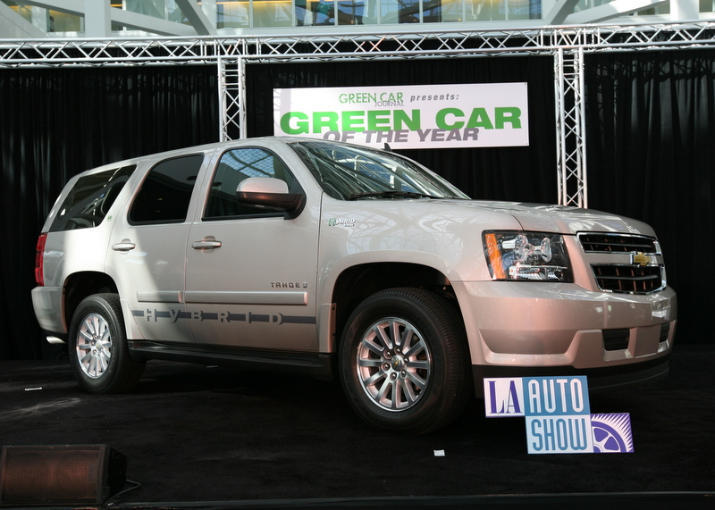 Chevy Tahoe Hybrid wins Green Car of the Year award.