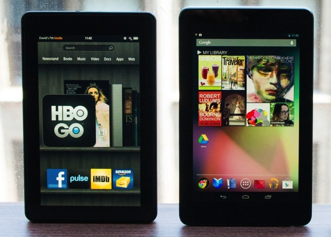 The 2012 Kindle Fire HD and Nexus 7
