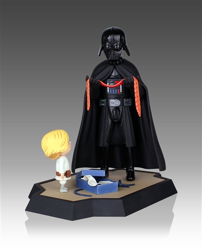 """In Jeffrey Brown's bestselling kids book """"Darth Vader and Son"""" we see the softer side of Luke and his dad. Now this touching tie scene can be sitting on your bookshelf as a limited-edition maquette from Gentle Giant Studios."""
