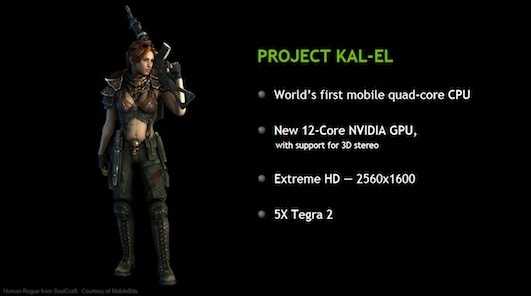 Nvidia claims its upcoming quad-core processor will offer higher performance while being more power efficient
