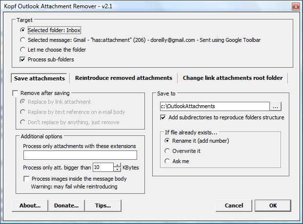 Kopf Outlook Attachment Remover