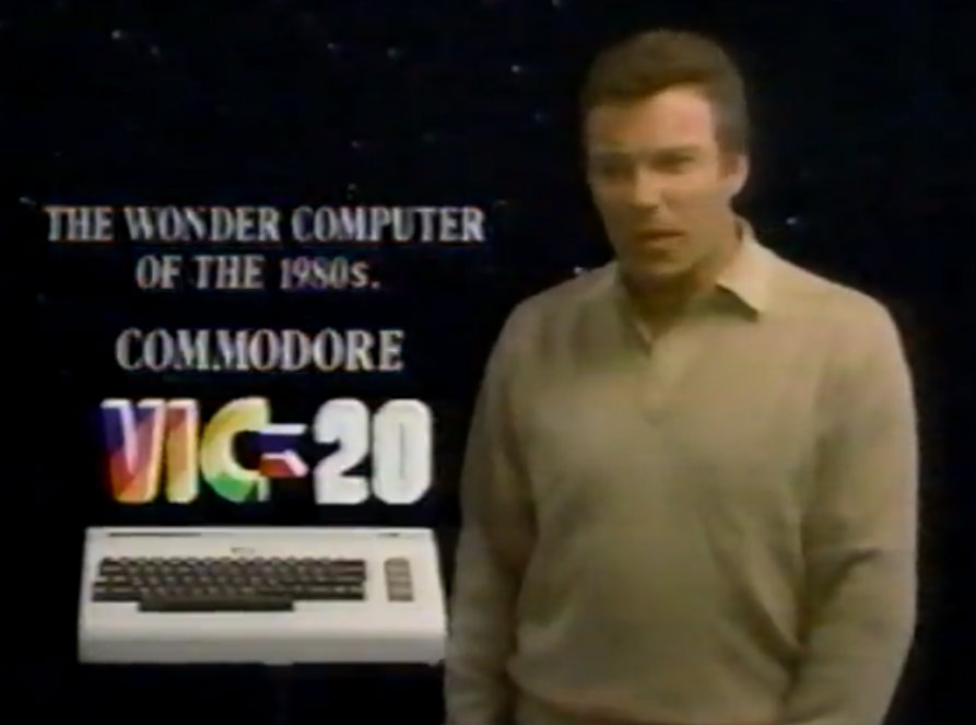 William Shatner and the Commodore VIC-20