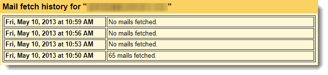 Gmail import (mail fetch) history