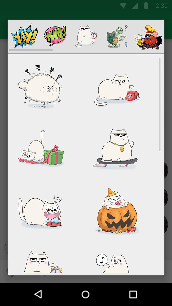Google's Hangouts now offers stickers.