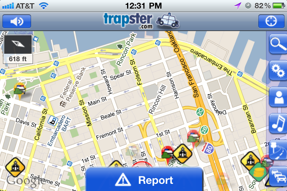 Apps like Trapster uses GPS and user inputs to pinpoint locations where law enforcement officers are conducting traffic violation checks.
