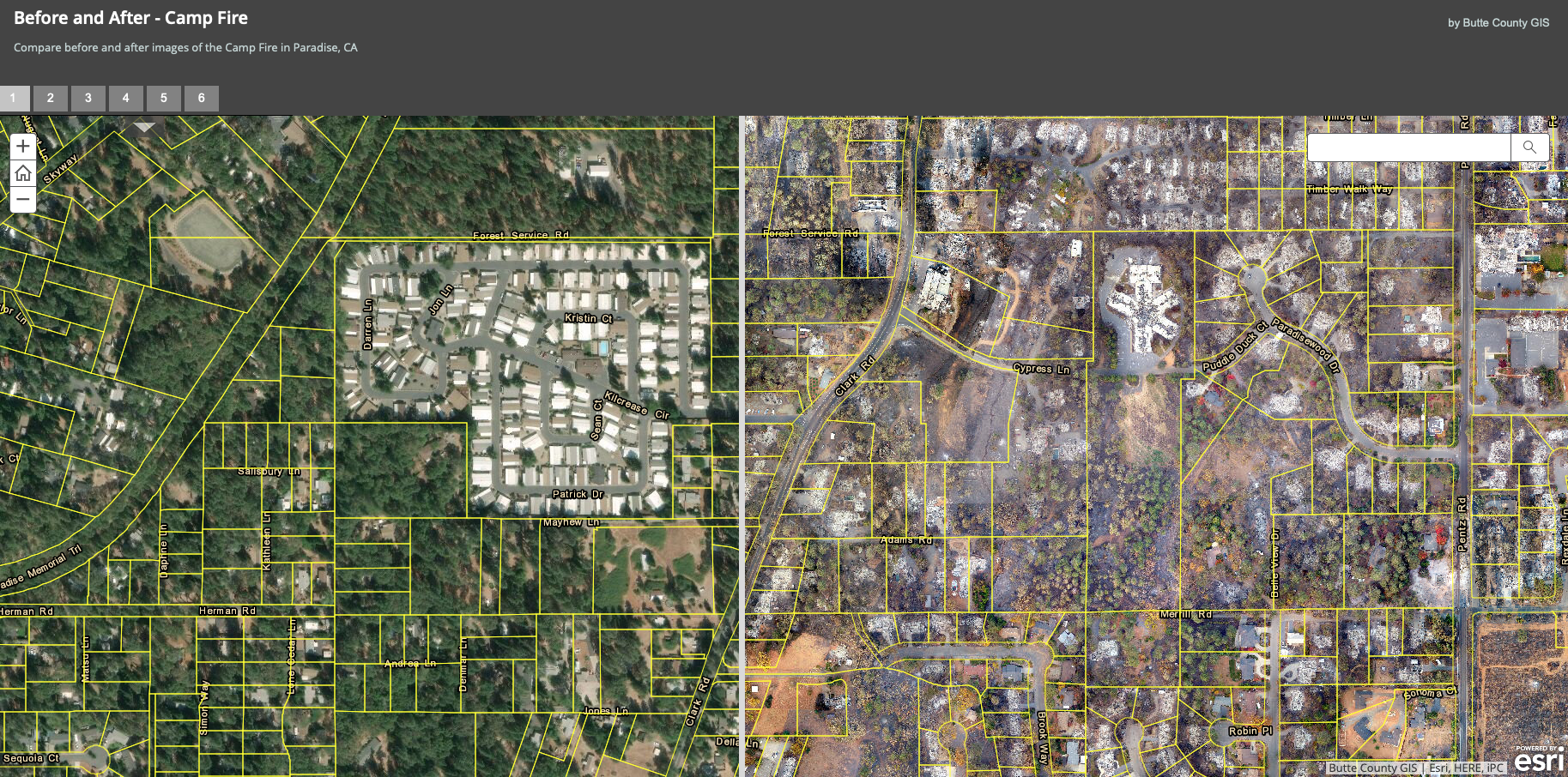 DJI drone photos show before and after scenes of the Camp Fire