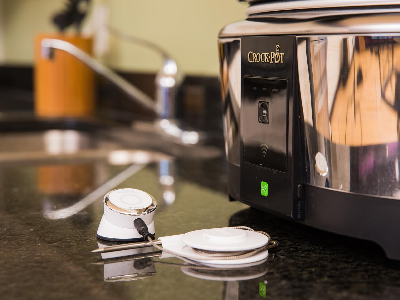 iDevices Kitchen Thermometer and the Crock-Pot WeMo Slow Cooker