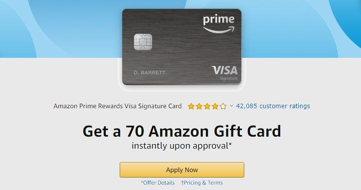 Amazon Tip Get A 70 Gift Card When You Sign Up For Amazon Prime Rewards Visa Cnet