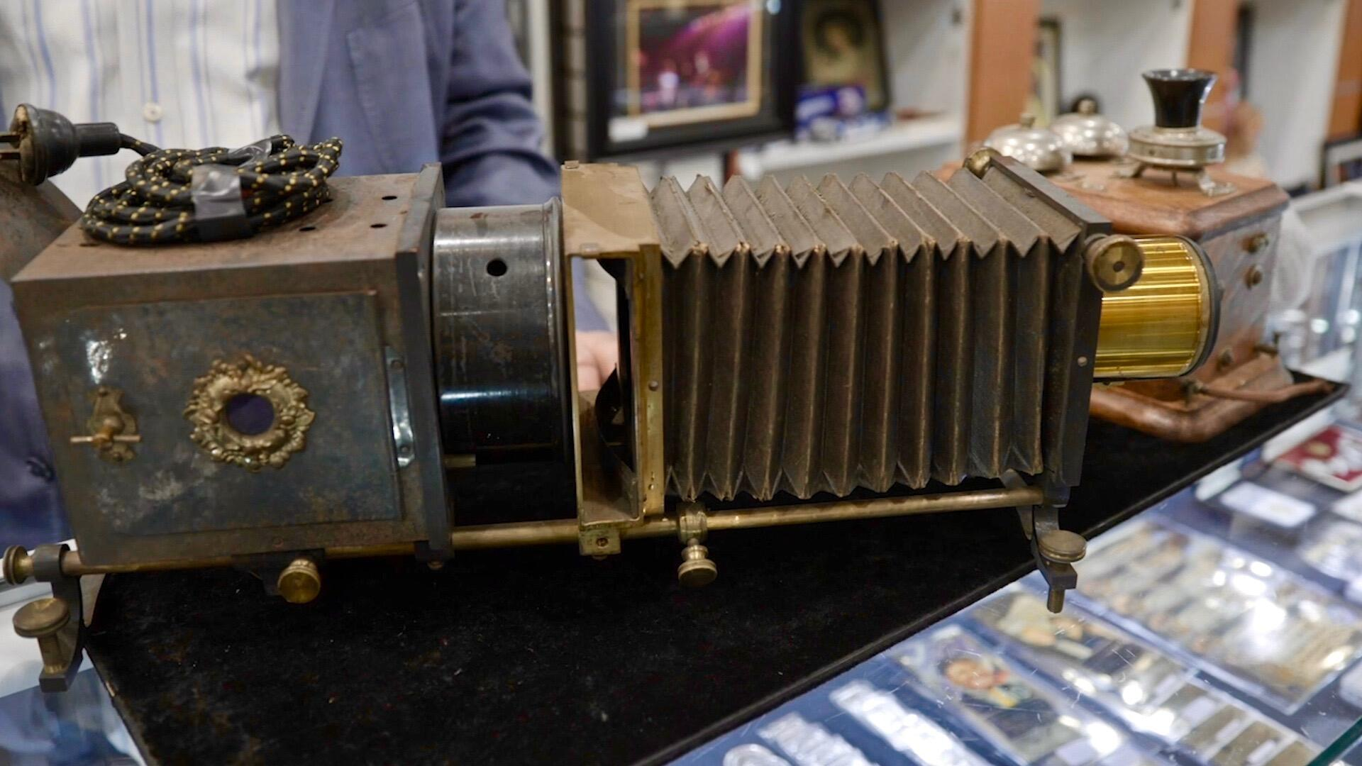 Slide projector from the 1920s