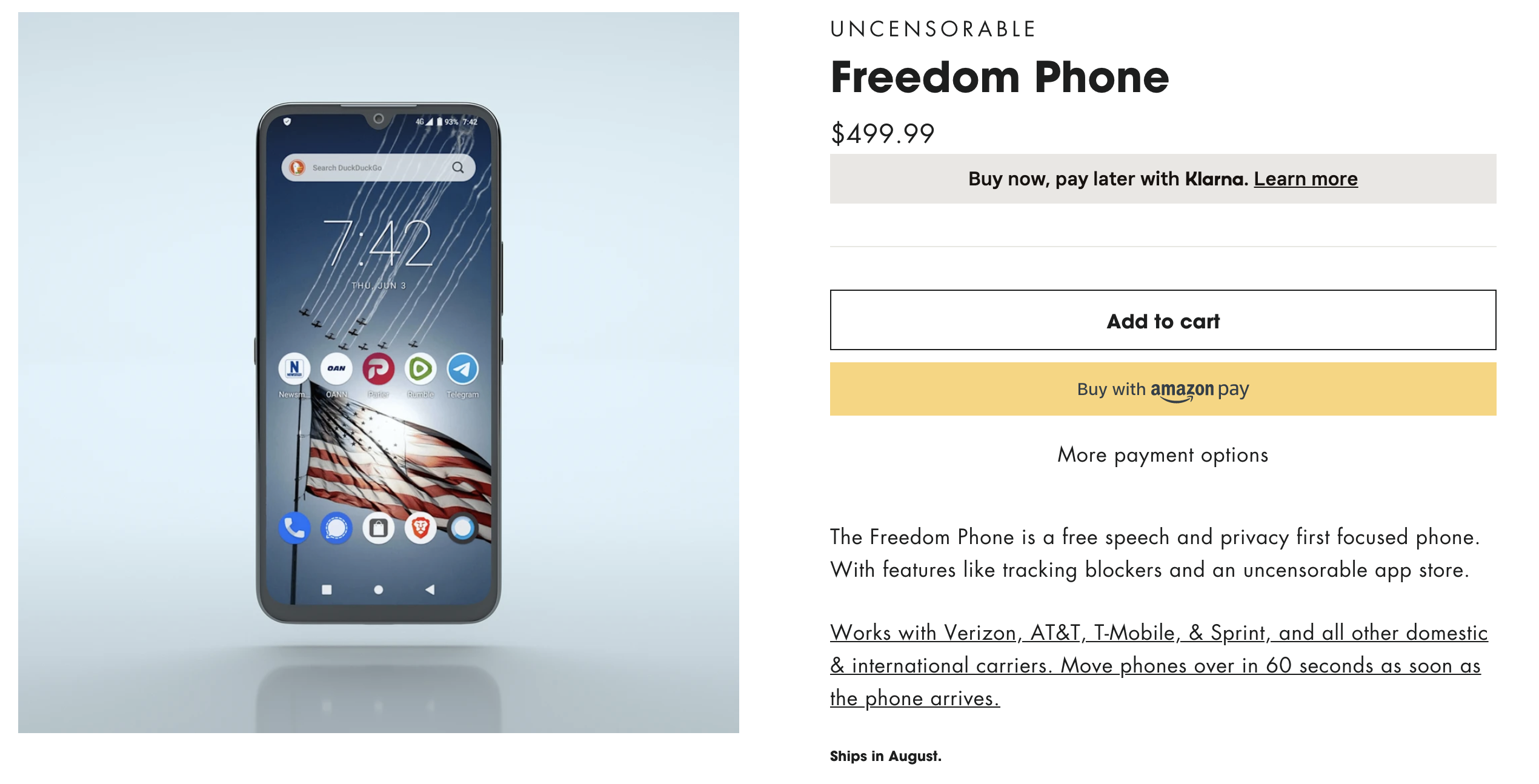 Freedom Phone 'Uncensorable' Raises a Series of Security Questions