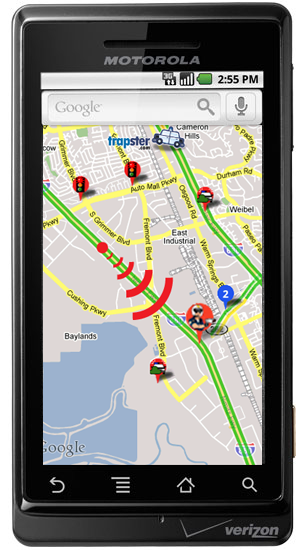 Users report known speed traps using the Trapster app for Android, iPhone, or BlackBerry.
