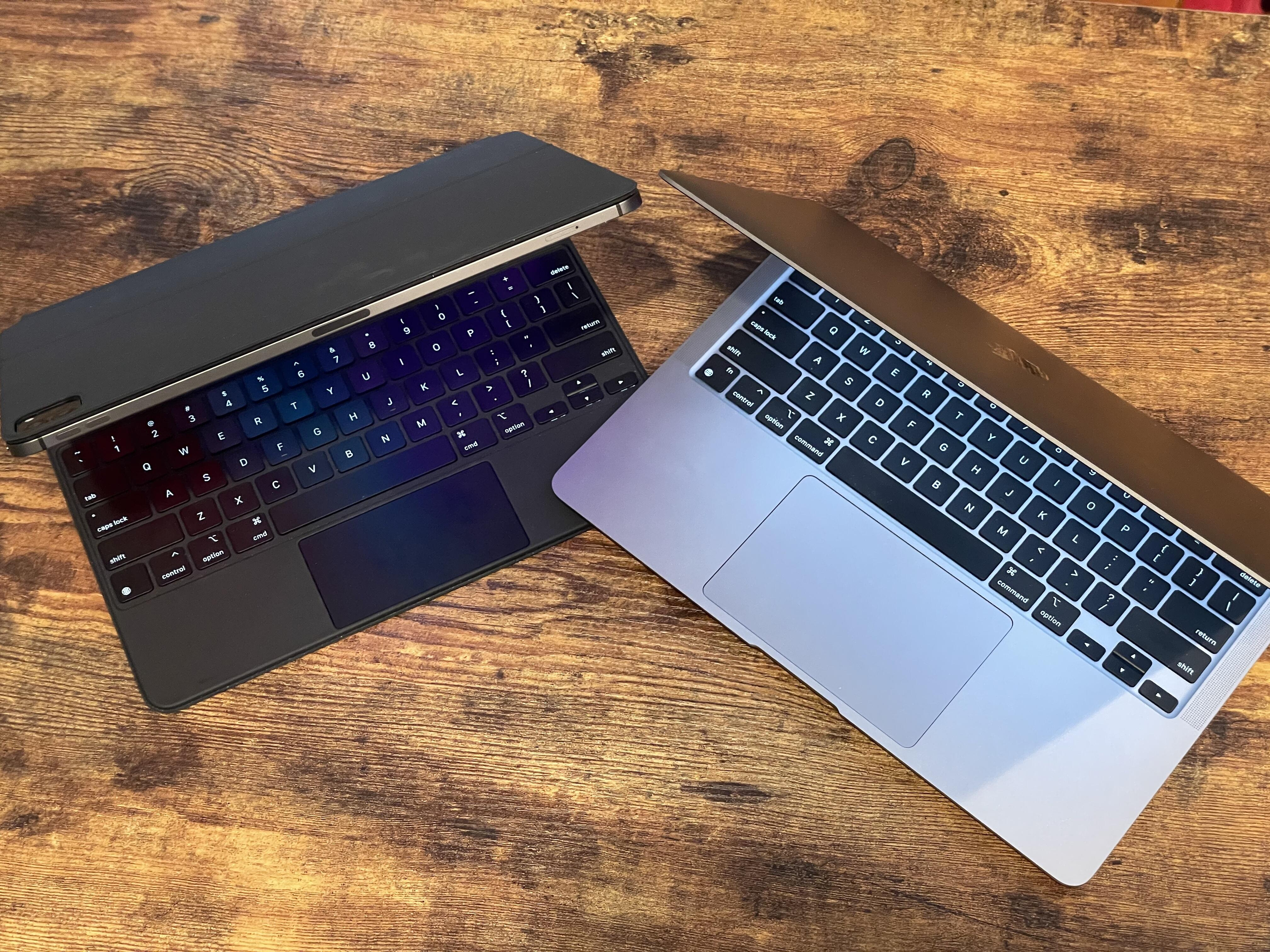 <p>The 12.9-inch iPad Pro, and the MacBook Air: they're becoming more alike than you think.</p>