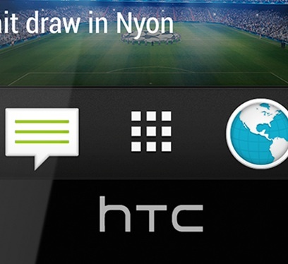 Close up of HTC One's icons.