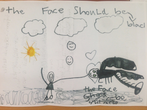 In case the scientists at CSIRO needed some guidance in how to create a dragon, Sophie Lester drew them a picture.