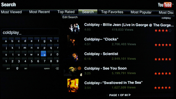 YouTube widget search feature, cont'd