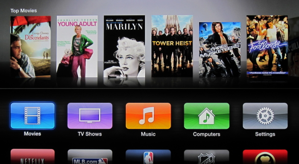 Apple's current Apple TV interface.