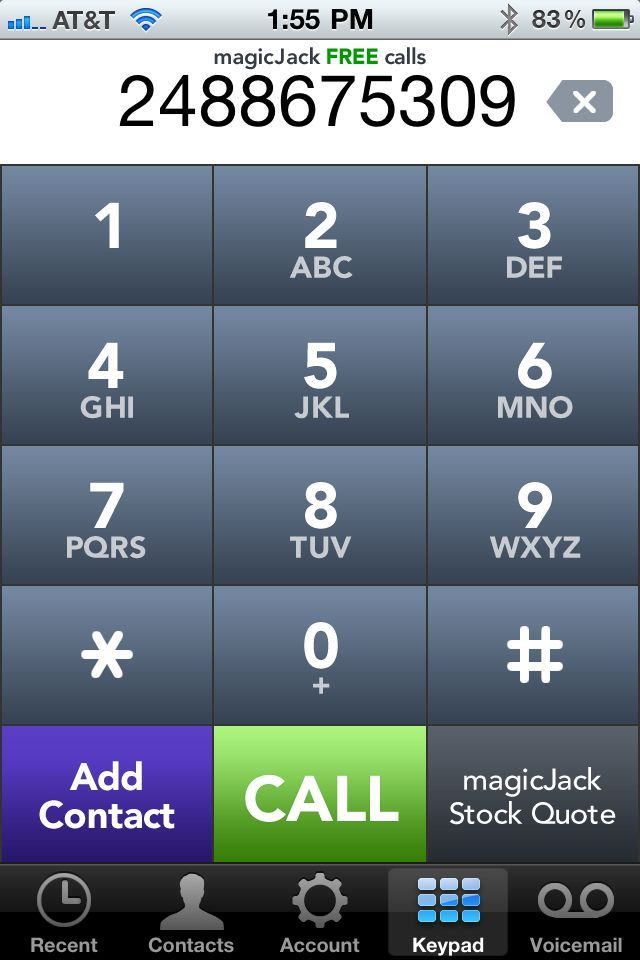 Call Jenny or anyone else in the U.S. or Canada, absolutely free, with MagicJack for iOS.