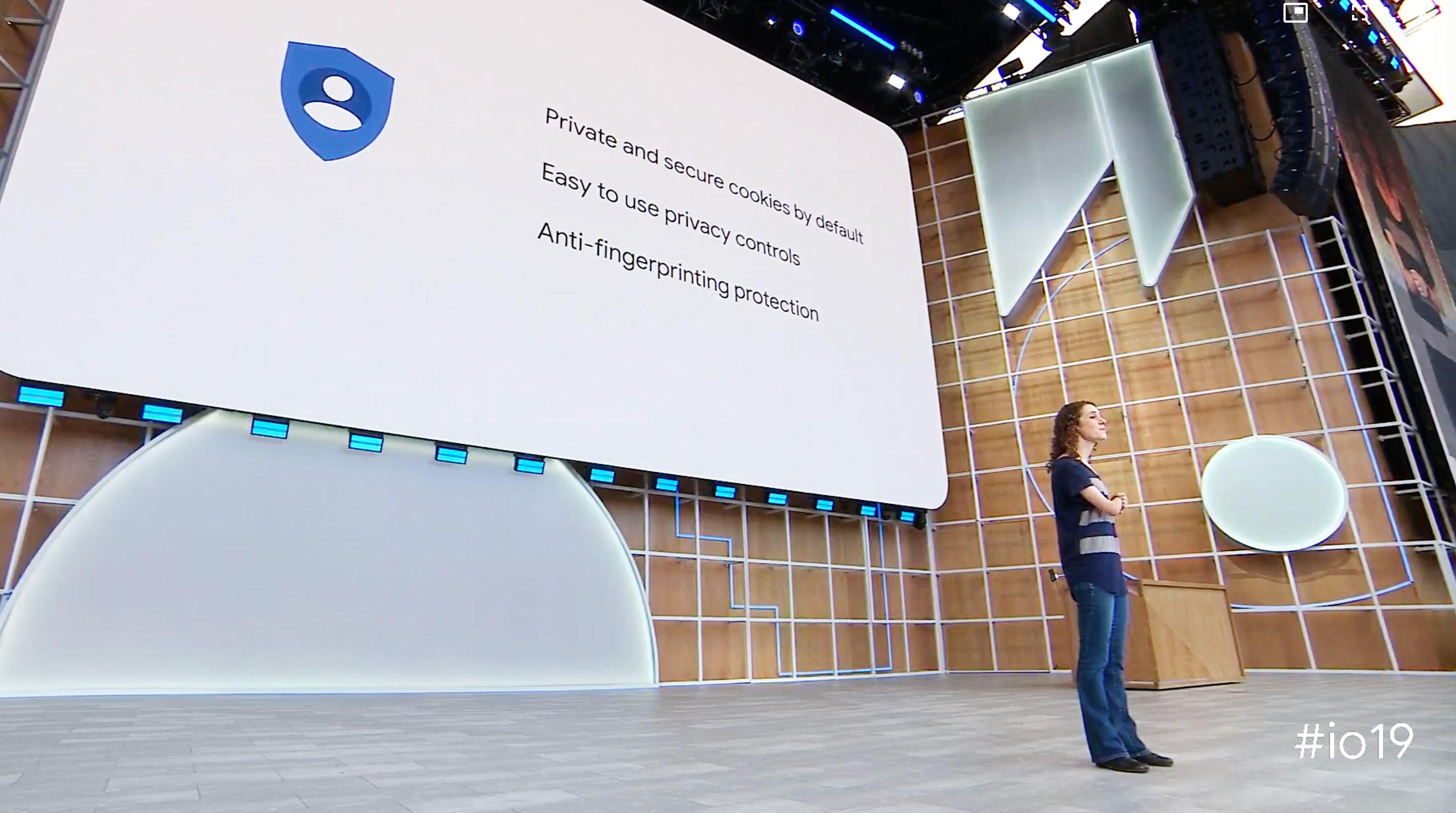 Tal Oppenheimer, a Chrome product manager, described Chrome privacy changes at the Google I/O show.