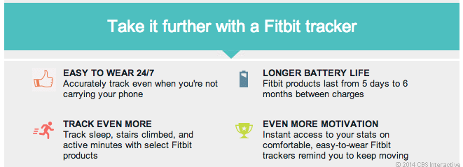 An e-mail from Fitbit