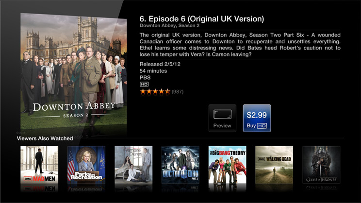 The Apple TV's new user interface