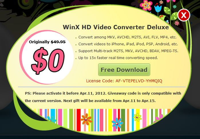 WinX HD Video Converter Deluxe has the muscle to convert nearly any video or audio file to nearly any other format.