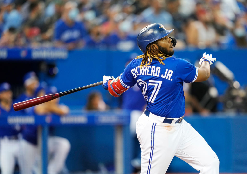 <p>Vladimir Guerrero Jr. has led the Toronto Blue Jays back into playoff contention, where they are fighting with the Yankees and Red Sox for a Wild Card spot.</p>