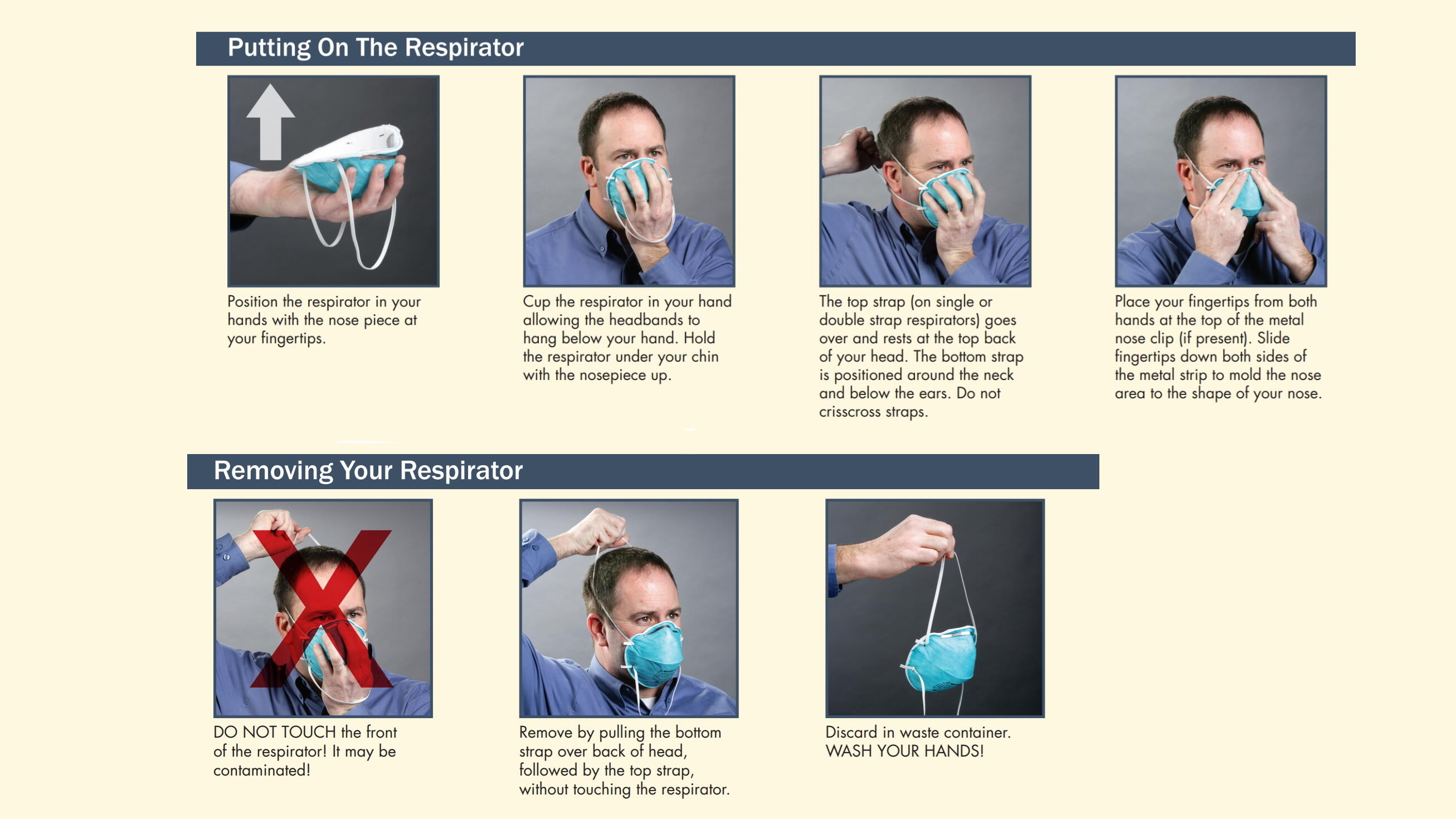 Put on and remove N95 mask