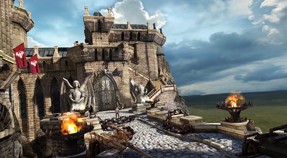 Epic Games' Infinity Blade for iOS, running on the Unreal Engine, which will bring new effects for iPad 2 users.