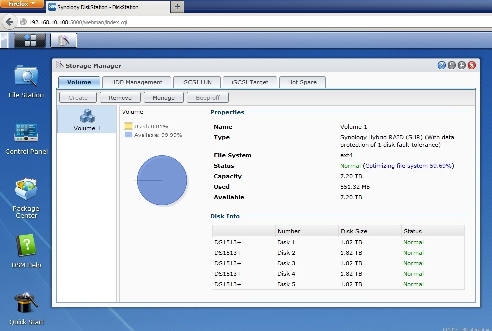 Synology's Hybrid RAID is a robust way to manage the NAS server's internal hard drives.