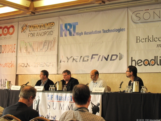 Photo of panel at 2010 SF Music Tech Summit.