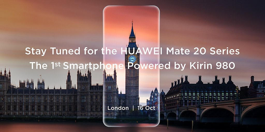 Huawei's invitation to its October 16 unveiling of the Mate 20 smartphone.