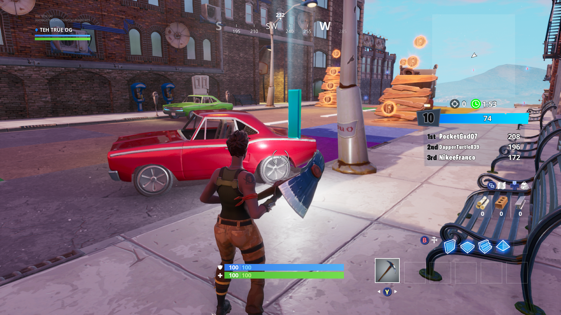 Fortnite Downtown Drop first ONFIRE letter