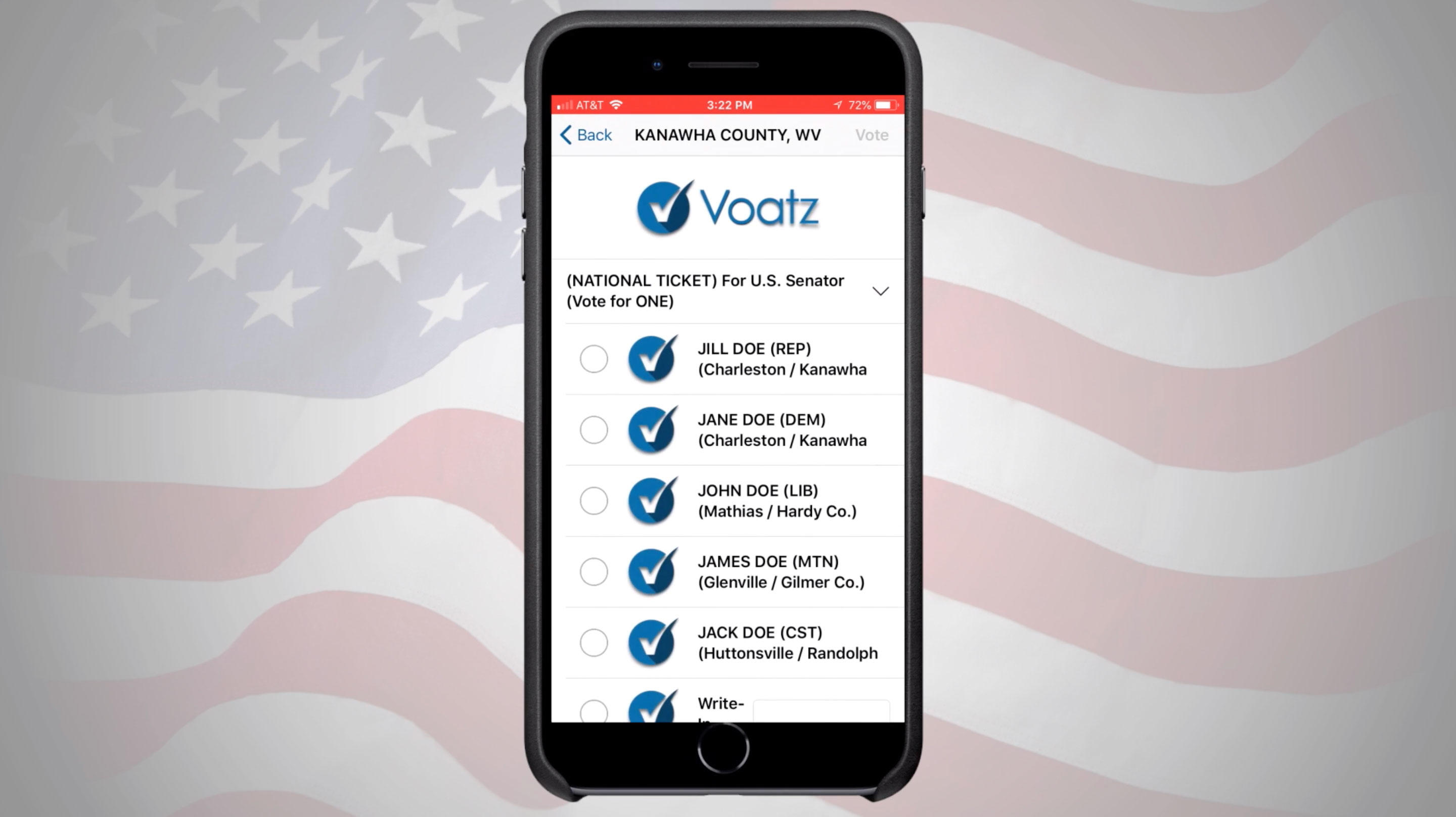 Voatz mobile-phone blockchain voting