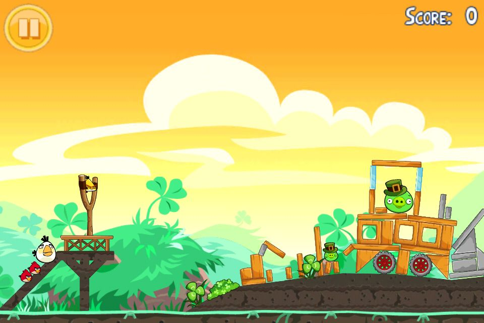 You don't have to be Irish to enjoy the new St. Patrick's Day levels in Angry Birds Seasons.