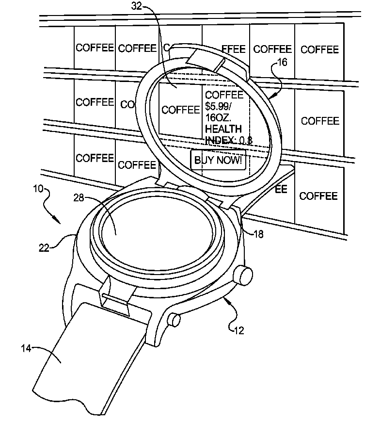 A rendering of the wristwatch concept by Google
