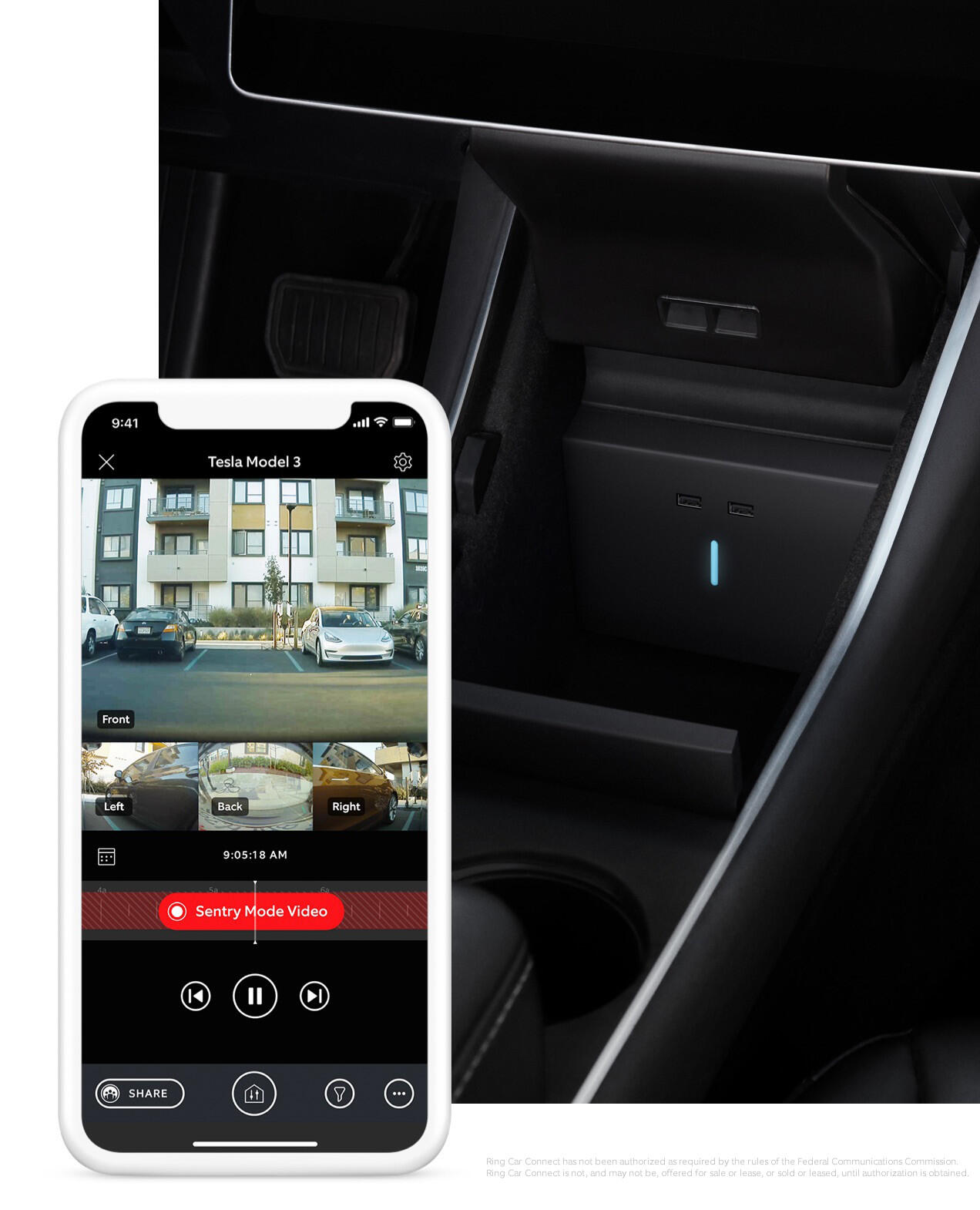 The Ring Car Connect app