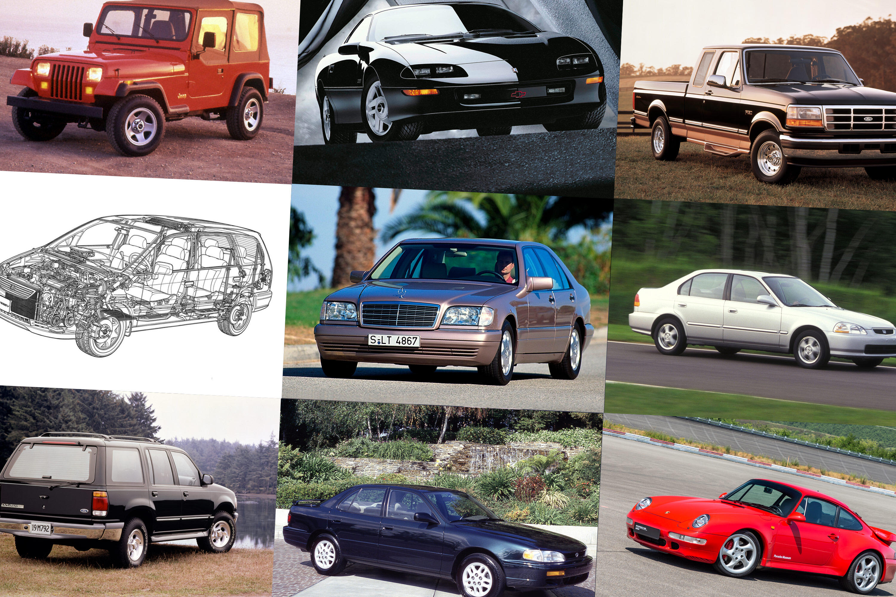 How popular vehicles have changed over the last 25 years