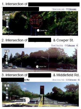 The National Legal and Policy Center took a jab at Google by posting Street View directions to a top Google executive's house.