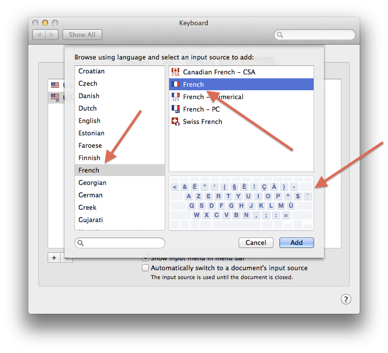 Keyboard layout selection in OS X