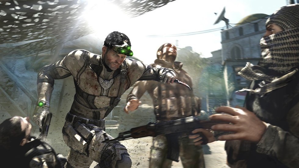 Image: Splinter Cell: Blacklist's main character can kill two guys at once!