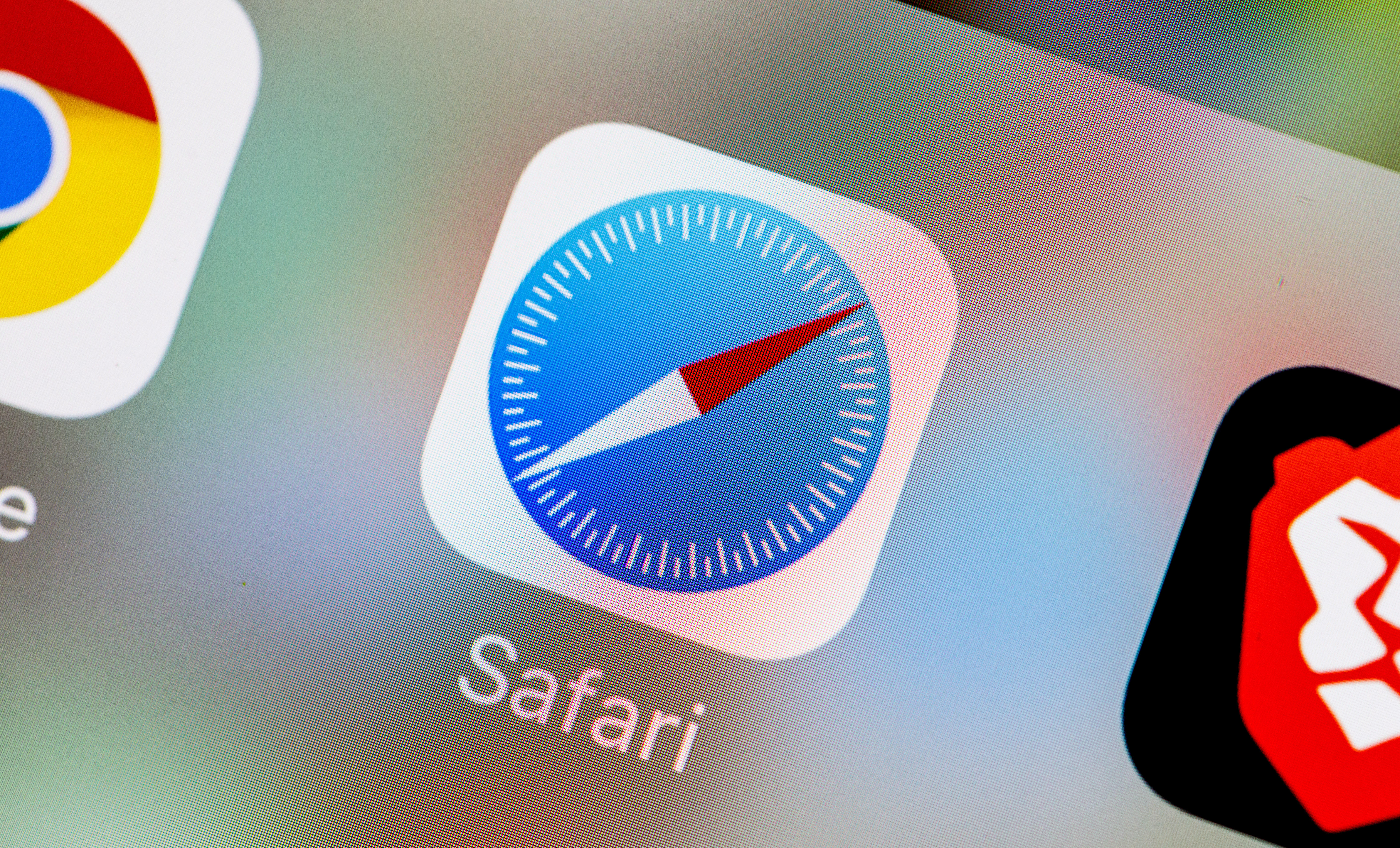 Apple's Safari icon on an iPhone screen
