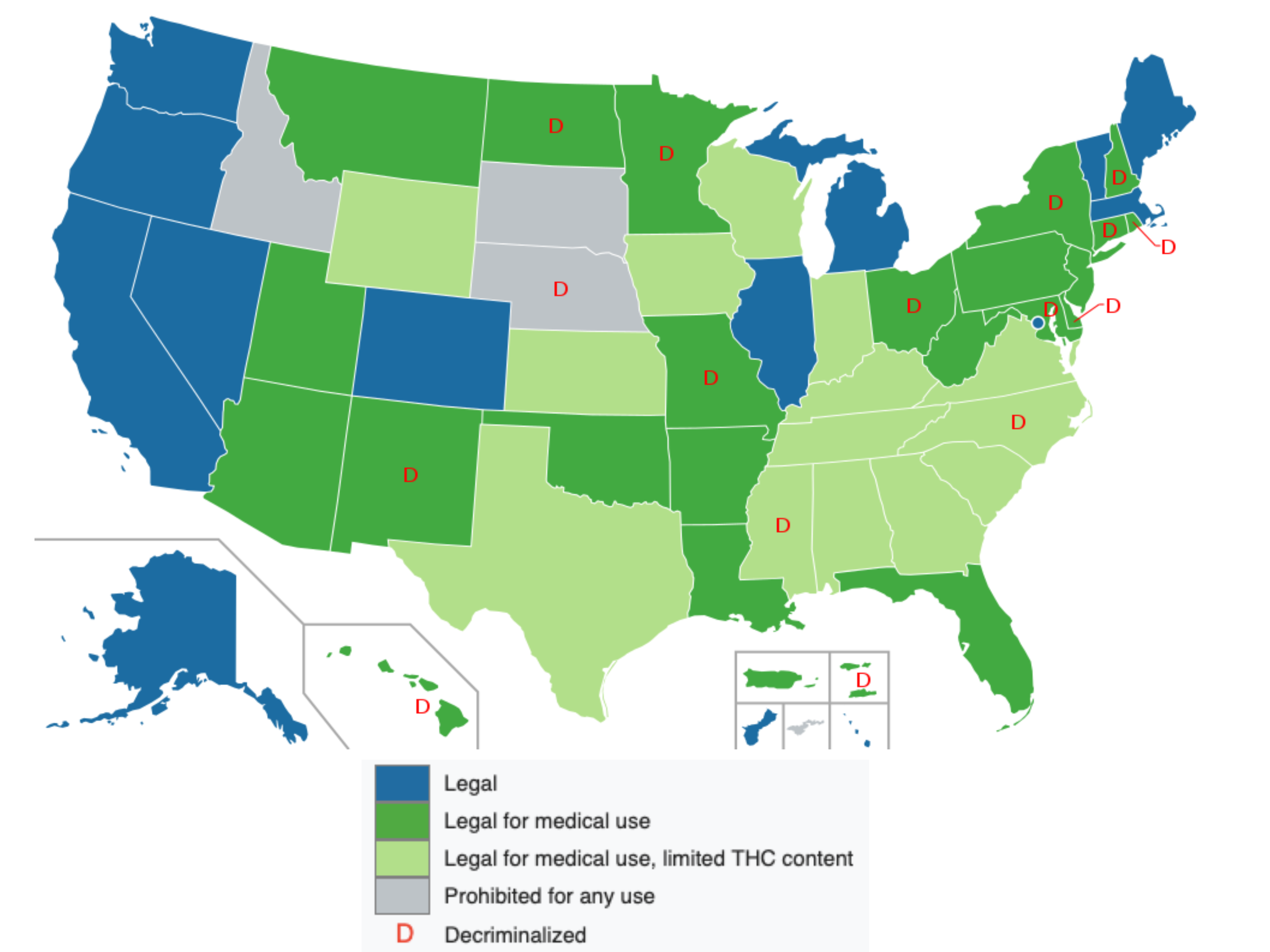 marijuana laws state by state