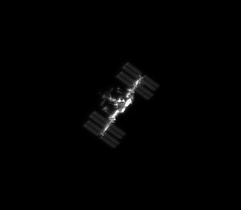 ISS seen from a back yard