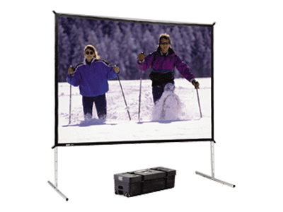 Da-Lite Fast-Fold Deluxe Screen System projection screen