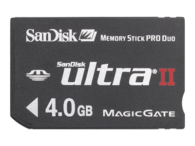 SanDisk Ultra II - flash memory card - 4 GB - MS PRO DUO