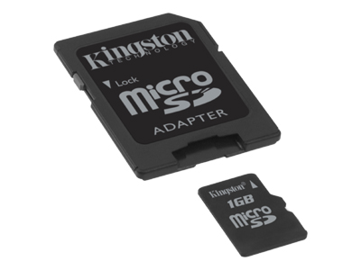 Kingston - flash memory card - 1 GB - microSD