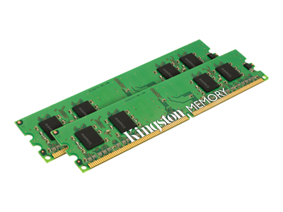 Kingston memory - 2 GB : 2 x 1 GB - DIMM 240-pin - DDR2